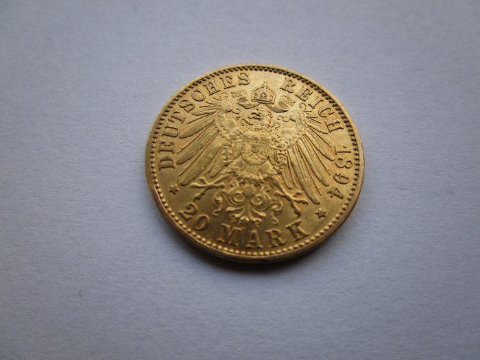 Die Goldmark mit dem Reichsadler