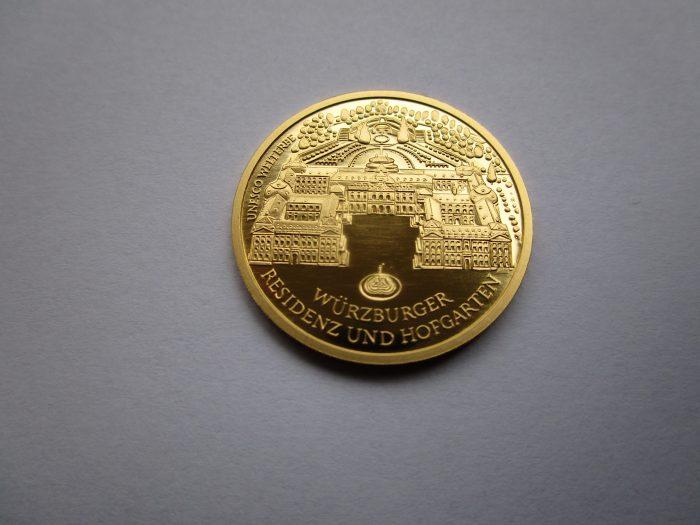 Der Goldeuro mit Weltkulturerbe als Motiv